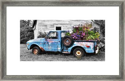 Truckbed Bouquet Framed Print