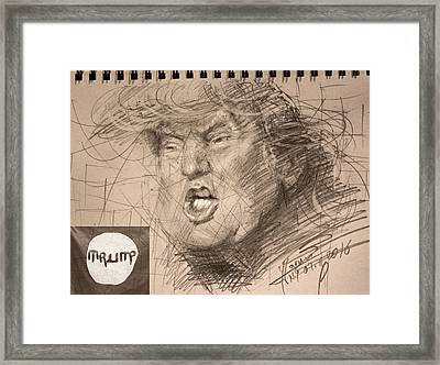 Trump Framed Print by Ylli Haruni