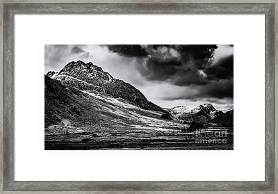 Tryfan Mountain East Face Framed Print