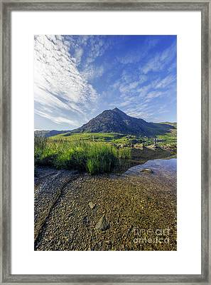 Framed Print featuring the photograph Tryfan Mountain by Ian Mitchell