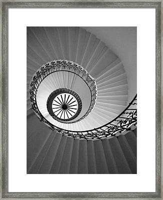 Framed Print featuring the digital art Tulip Staircase by Julian Perry