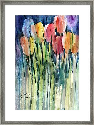 Tulips Framed Print by Natalia Eremeyeva Duarte