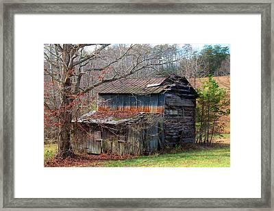 Tumbledown Barn Framed Print