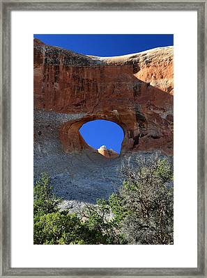 Tunnel Arch In Arches National Park Framed Print by Pierre Leclerc Photography