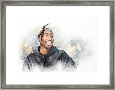 Tupac 21 Framed Print