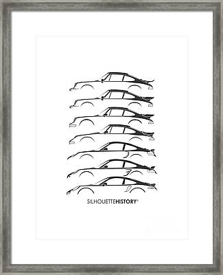 Turbo Sports Car Silhouettehistory Framed Print