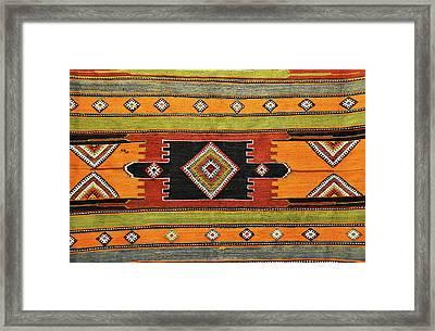 Turkish Rug Background Framed Print
