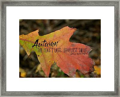 Turn A Leaf Quote Framed Print by JAMART Photography