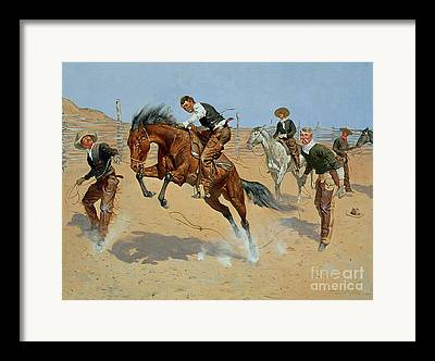 Fencing Paintings Framed Prints