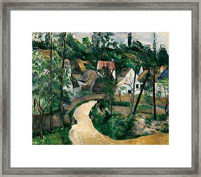 Turn In The Road Framed Print by Paul Cezanne