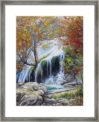 Turner Falls Oklahoma Framed Print by Vickie Fears