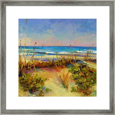 Framed Print featuring the painting Turquoise Tide by Chris Brandley