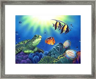 Turtle Dreams Framed Print by Angie Hamlin
