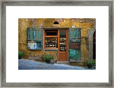 Tuscany Wine Shop 2 Framed Print