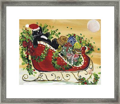 Tuxedo Santa Claus  Cat Framed Print by Sylvia Pimental