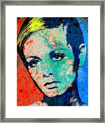 Twiggy-2 Framed Print by Otis Porritt