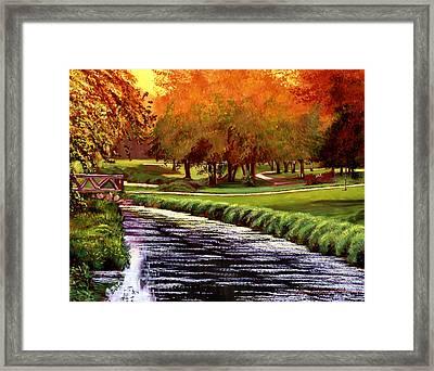 Twilight Golf Framed Print by David Lloyd Glover