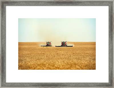 Twin Combines Framed Print