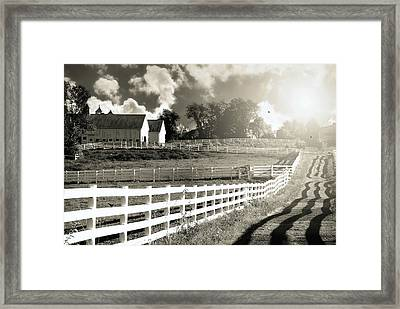 Twin Faces East Framed Print by Diana Angstadt