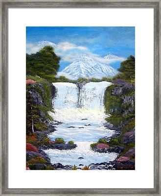 Twin Falls Framed Print by Allison Prior