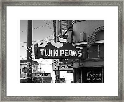 1 Twin Peaks Bar In San Francisco Framed Print