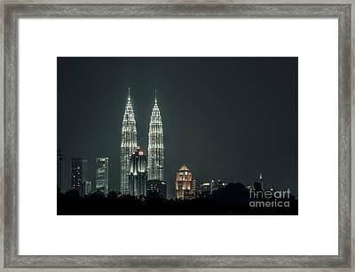 Framed Print featuring the photograph Twin Towers by Charuhas Images
