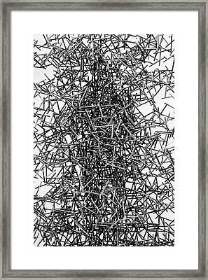 Twisted Metal Framed Print