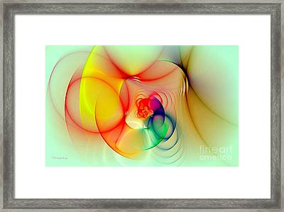 Twisted Rings Inverted Framed Print