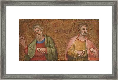Two Apostles   Fragment Of Predella Framed Print by Dalmatian