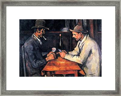 Two Card Players Framed Print