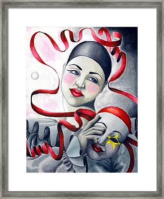 Two Faces Framed Print by Scarlett Royal
