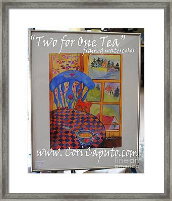 Two For One Tea Framed Print