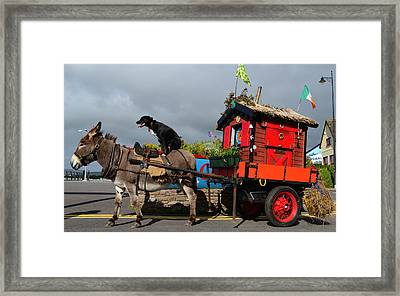 Two Friends On The Road Framed Print
