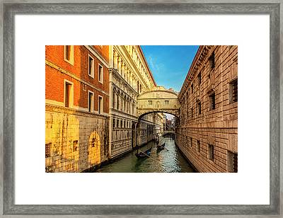 Framed Print featuring the photograph Two Gondolas by Andrew Soundarajan