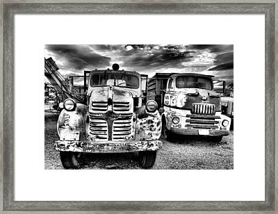 Framed Print featuring the photograph Two Old Beauties by Jeff Swan