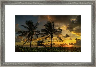 Two Palm Sunrise Delray Beach Florida Framed Print