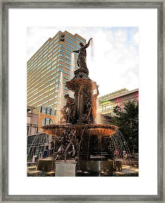 Tyler Davidson Fountain Framed Print by Keith Allen