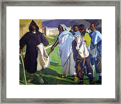 Typical Sorianos Framed Print by Joaquin Sorolla