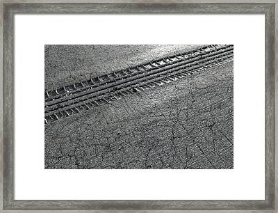 Tyre Track In The Ground Framed Print