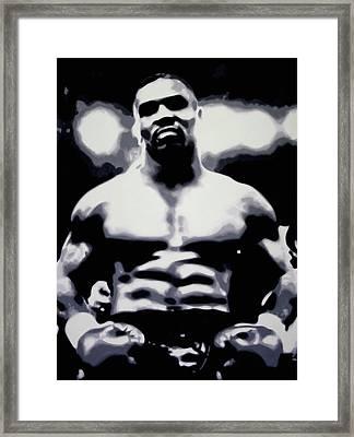 Tyson Framed Print by Luis Ludzska
