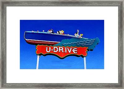 U-drive Framed Print