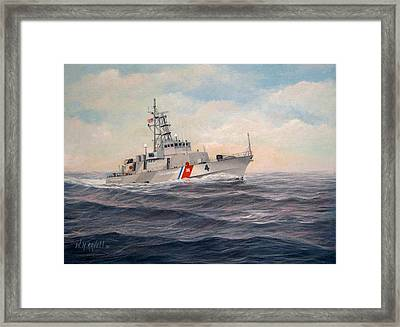U. S. Coast Guard Cutter Monsoon Framed Print by William H RaVell III