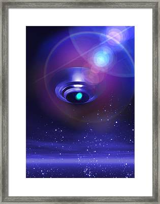 Ufo, Artwork Framed Print by Victor Habbick Visions