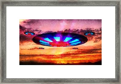 Ufo Invaders Framed Print by Raphael Terra