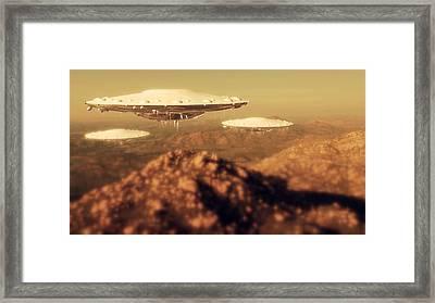 Ufo Invasion Force By Raphael Terra Framed Print