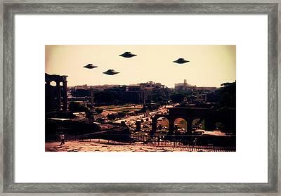 Ufo Rome Framed Print