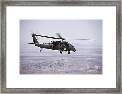 Uh-60 Black Hawk Takes Framed Print by Terry Moore