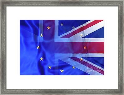 Uk And Europe Framed Print