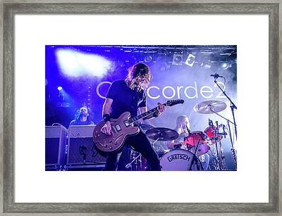Uk Foo Fighters Live @ Concorde 2 Framed Print