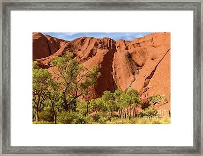 Framed Print featuring the photograph Uluru 07 by Werner Padarin